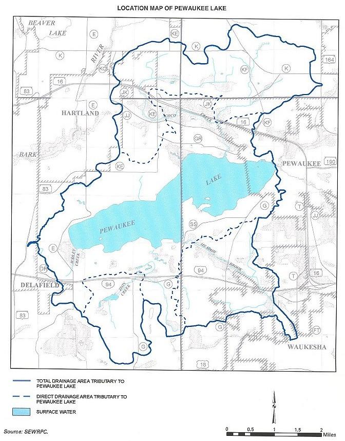 Pewaukee Lake Drainage Area
