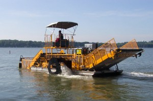 yellow weed harvester